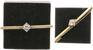 Brooch Gold 585, With Zirconia, 4,8g, Approx. 6cm Large