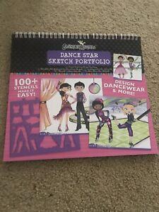 Dance Star Sketch Portfolio Stencils Design Dancewear & More 100+ Stencils