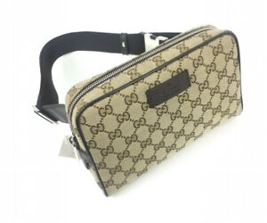 AUTHENTIC Gucci #449174 GG Canvas Belt Bag/Fanny Pack, NWT