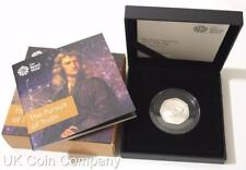 2017 Isaac Newton Silver Proof Fifty Pence Coin Brand New Royal Mint Boxed And C