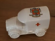 WWI RED CROSS AMBULANCE BY VICTORIA CHINA  COLWYN BAY CREST. VGC