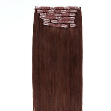 USA STOCK !Full Head 16 inch Indian Remy Human Hair Clip In Extensions 8pcs&120g