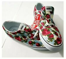 Vans Women's Checker Floral Skate Shoes Doheny Roses Blue multicolor Size 11 New