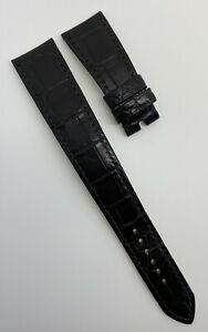 Authentic Rolex Cellini 20mm x 16mm Dark Brown Alligator Watch Strap 350776 OEM