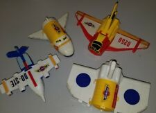 4 Galoob Micro Machines Hinged Cargo Plane Airplane Vintage 1990