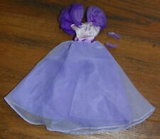 Vintage Barbie Doll Clothes fashions purple bridesmaid dress formal gown w/shoes