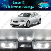 White Interior LED Lights + Reverse Light for 2006 - 2013 Lexus IS350 IS250 IS F