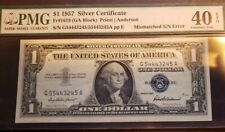 NEW LOW $$$   -$1 ERROR NOTE-1957 Silver Certificate - MISMATCHED SERIAL NUMBER