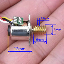 Mini Stepping Motor Micro 10mm 2-phase 4-wire Copper Worm Gear 18° Stepper Motor
