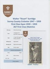 STUART SURRIDGE SURREY COUNTY CRICKETER 1947-1959 RARE ORIG HAND SIGNED CUTTING