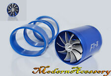 BLUE DUAL FANS TURBONATOR/GAS SAVER FOR SUPERCHARGER/TURBO/COLD AIR INTAKE HOSE