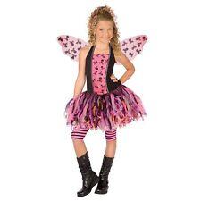 Girls SKULL FAIRY SHREDDY Costume Angel Dress w Wings + Leggings Child Small 4 6