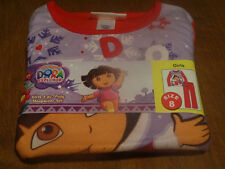 NWT Dora the Explorer 2 PC Poly Sleepwear Set Pajamas Size 8 Flannel Fleece
