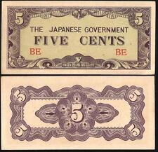 BURMA 5 Cents 1942 AU P 10 a