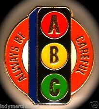 """A B C Always Be Careful"" Enamel Lapel Pins/Wholesale Lot 25/All New Line!"