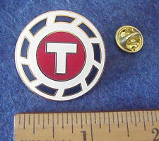 "FLYING TIGERS AIR CARGO FREIGHT ""T"" LOGO 1 1/4"" DIAMETER  PIN"