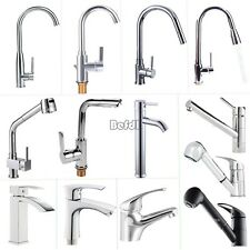 In UK Mixer Taps Waterfall Sink Mixer Chrome Pull Out Swivel Bath Kitchen Faucet