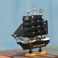 Ship Model Wooden Sailboat Ship Handmade Carved Model Boat Nautical Decoration