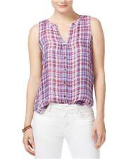 Maglie e camicie da donna multicolore casual in lino