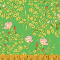 Fairies Heather Ross 20th Anniversary Windham Cotton Quilt Fabric 37023A 5 Green