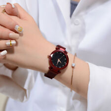 Luxury Women Starry Sky Watch Quartz Stainless Buckle Crystal Analog Wrist Watch