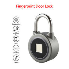 BT Fingerprint Door Lock Smart Round Padlock Keyless Biometric Entry Anti Theft