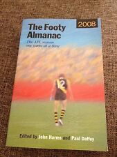 TOM HAFEY SIGNED, THE AFL  FOOTY ALMANAC 2008 SIGNED PAUUL DAFFEY, DEAN LAIDLEY