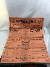 """Great Orig. 1930's Thayer's Mfg. Co. Magic Supply Fold Out Mailer 24"""" x 18"""""""