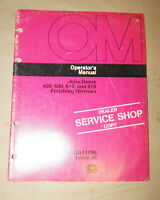 1976 John Deere 400 600 610 & 810 Finishing Harrows Operator's Manual OM-GA11096