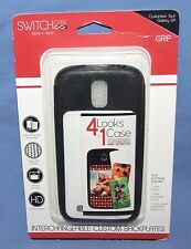SWITCH CASE - GALAXY S4 Cell Phone Case - Black - Interchangeable Backplate- NEW
