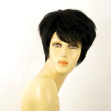 wig for women 100% natural hair black ref ALICE 1B PERUK