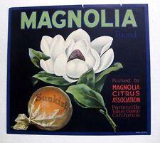 Rare 1930 Magnolia Flower Sunkist Orange Crate Label