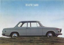 BMW 1600 Coupe 1966-67 Original UK Single Sheet Sales Brochure 02-Series 12170e