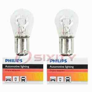 2 pc Philips Parking Light Bulbs for Chrysler Crown Imperial Imperial od