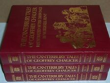 Easton Press DLE THE CANTERBURY TALES 3 vols Geoffrey Chaucer & W Russell Flint