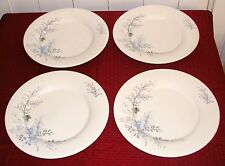 "(4) Pfaltzgraff Winter Frost 11 1/8"" Large Dinner Plates - Very Good Condition"
