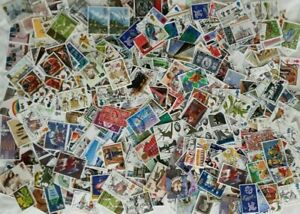 1000 GB Commemorative Stamps used off paper