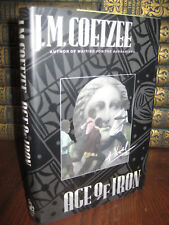 1st Edition AGE OF IRON J.M. Coetzee NOBEL PRIZE & BOOKER First Printing FICTION