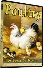 50  Poultry Books, How To Chickens Farming, Raising, Fowl, Culture, Breeding DVD
