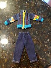Vintage Barbie Clothes Jean Jacket & Pants Jeans Colorforms Jrs Dice Casino