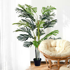 5ft Artificial Palm Tree Indoor Home Office Decor Tropical Green Realistic Plant