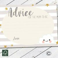 Baby Shower Games Advice For Mum To Be Cards Grey Stripe Cloud New Mum Favours