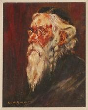 Vintage Wilhelm Lehmann German Oil Painting of Jewish Man Rabbi