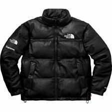 Supreme X The North Face TNF Leather Nuptse Jacket Black Size XL