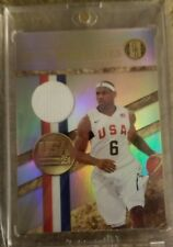 2010 Panini Gold Standard Medalists Memorabilia  Lebron James Basketball Card 🔥