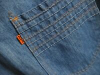34x31 FIT True Vtg 70s Levis 619 THIN DENIM  BELLBOTTOM DISCO Jeans Orange Tab