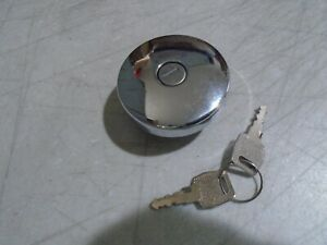 Chrome Locking Vented Gas Cap CHEVROLET TRUCK 1947 TO 1966  NEW WITH KEYS