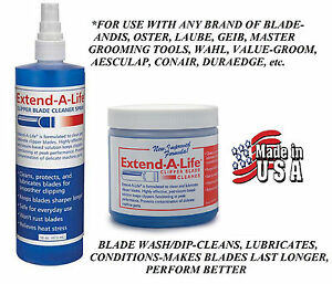 EXTEND A LIFE CLIPPER BLADE CLEANER RINSE DIP/WASH&SPRAY*For Oster,Andis,Wahl
