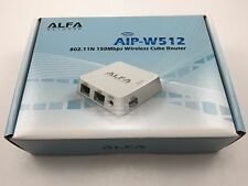 Alfa AIP-W512 802.11N 150Mbps Wireless Cube Router ships from California USA