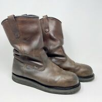 Red Wing Mens 2230 Steel Toe Waterproof Pull On Work Boots Leather Brown Sz 11 D